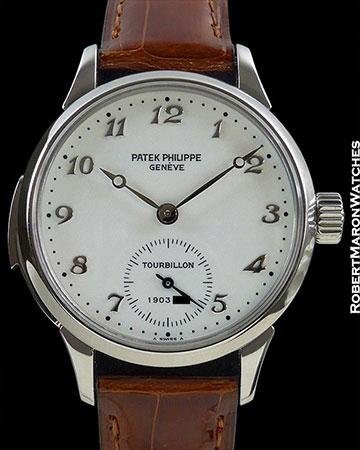 PATEK PHILIPPE 3939 HP PLATINUM MINUTE REPEATER TOURBILLON ENAMEL DIAL