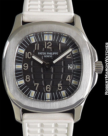 PATEK PHILIPPE 4960 AQUANAUT LADIES 30MM BLACK ARABIC DIAL QUARTZ