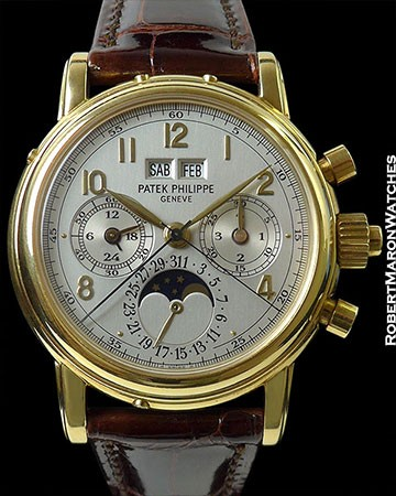 PATEK PHILIPPE 5004J 18K PERPETUAL CALENDAR SPLIT-SECONDS CHRONOGRAPH BOX & PAPERS