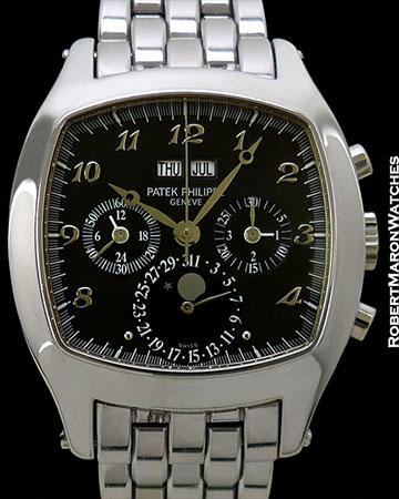 PATEK PHILIPPE 5020/1G PERPETUAL CALENDAR CHRONOGRAPH BLACK BREGUET DIAL 18K WHITE GOLD