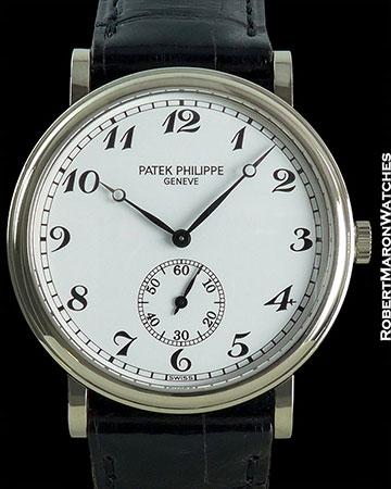 PATEK PHILIPPE 5022G CALATRAVA 18K WHITE GOLD PORCELAIN DIAL