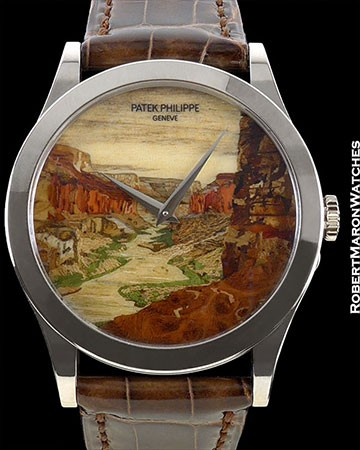 PATEK PHILIPPE CALATRAVA 5089G GRAND CANYON WOOD MARQUETRY NEW LIMITED EDITION OF 10