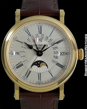 PATEK PHILIPPE 5159J RETROGRADE PERPETUAL CALENDAR AUTOMATIC 18K OFFICER'S CASE