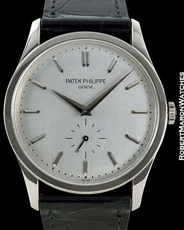 PATEK PHILIPPE OVERSIZED CALATRAVA 5196G 18K WHITE GOLD