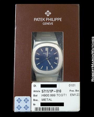 PATEK PHILIPPE 5711/1P PLATINUM NAUTILUS 2X SEALED NEW