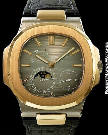 PATEK PHILIPPE NAUTILUS 5712GR 18K WHITE & ROSE GOLD
