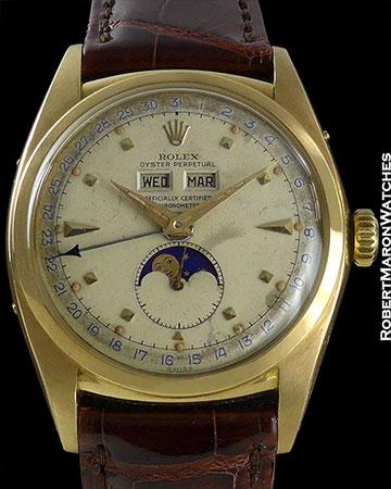 ROLEX REF 6062 TRIPLE DATE MOONPHASE 18K CIRCA 1953