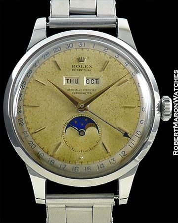 ROLEX 8171 TRIPLE DATE MOONPHASE PADELLONE STEEL