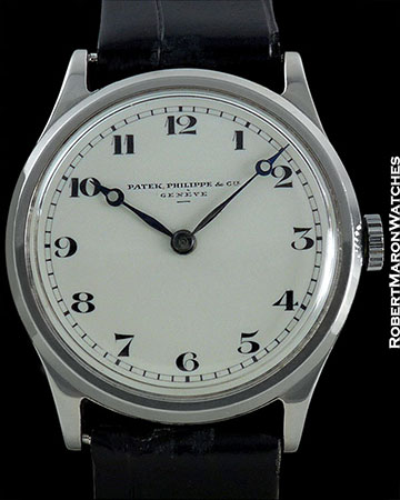 PATEK PHILIPPE STAINLESS STEEL WITH ENAMEL DIAL
