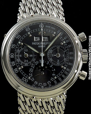 PP PIECE UNIQUE SMOKE GRAY DIAL LUMINOUS DOTS & HANDS BREGUET 12