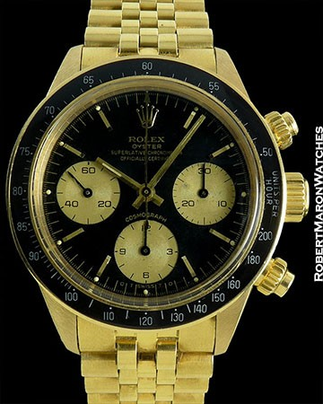 ROLEX DAYTONA 6263 UNPOLISHED 18K BLACK SIGMA DIAL