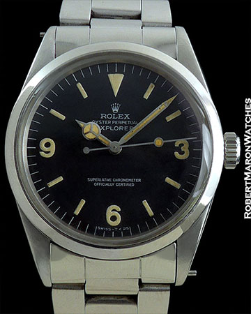 ROLEX 1016 EXPLORER PATINA STAINLESS STEEL BOX PAPERS