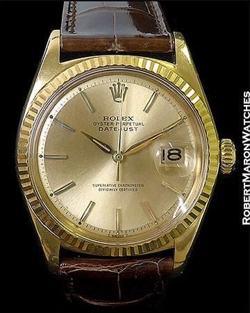 ROLEX VINTAGE 18K DATEJUST 1601 1964