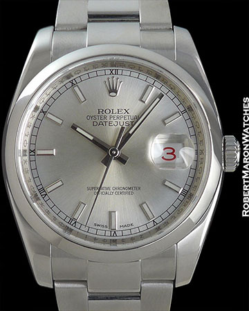 ROLEX DATEJUST REF 116200 STEEL WITH BOX/PAPERS
