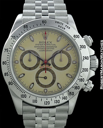 ROLEX REF 116520 DAYTONA RARE COLOR CHANGE DIAL BOX & PAPERS