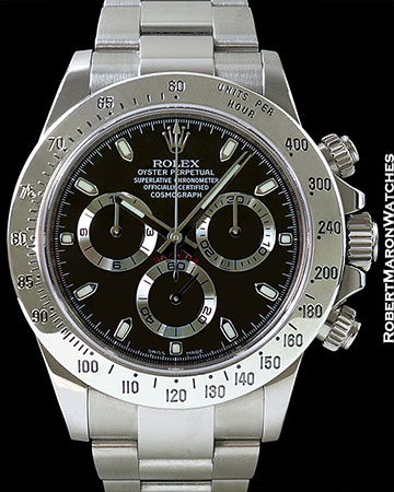 ROLEX DAYTONA 116520 STEEL RANDOM SERIAL BOX & PAPERS