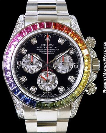 ROLEX 116599RBOW RAINBOW DAYTONA BAGUETTE DIAMONDS & SAPPHIRES NEW