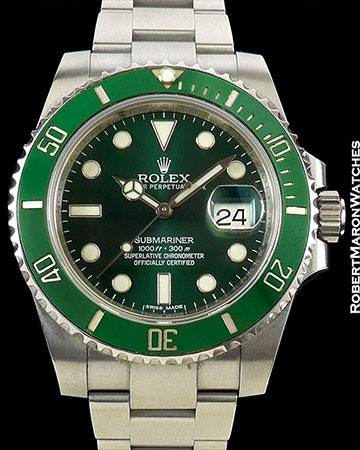 ROLEX SUBMARINER HULK 116610LV STEEL GREEN DIAL & BEZEL