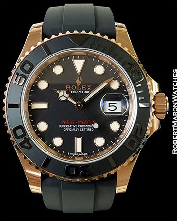 ROLEX YACHTMASTER EVEROSE 18K ROSE 116655 40MM NEW