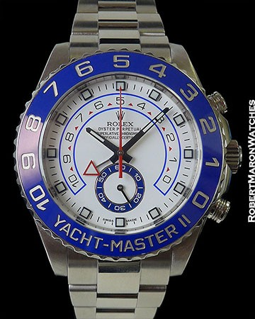 ROLEX 116680 YACHTMASTER II PANAMA CANAL STAINLESS AUTOMATIC RARE !!