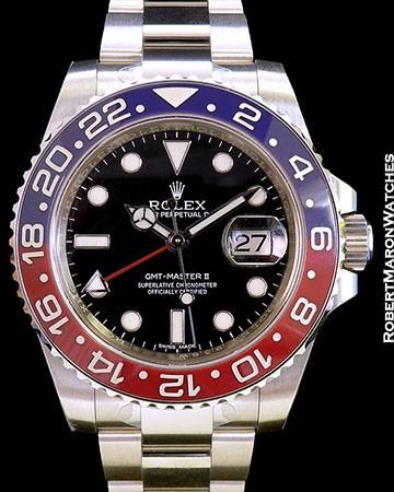 ROLEX 116719 GMT II 18K WHITE GOLD BLUE/RED CERAMIC BEZEL NEW