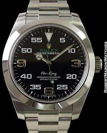 ROLEX 116900 OYSTER PERPETUAL AIR KING STAINLESS AUTOMATIC NEW