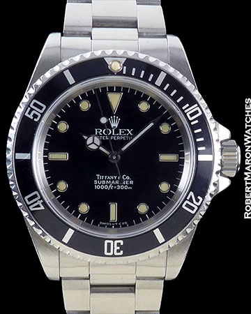 ROLEX TIFFANY SUBMARINER 14060 STEEL