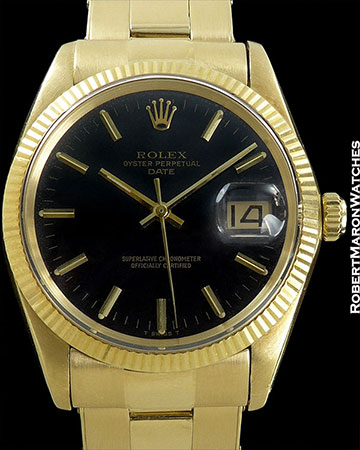 ROLEX REF 1503 OYSTER PERPETUAL DATE GILT GLOSS DIAL 18K