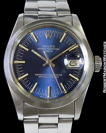 ROLEX 1500 OYSTER PERPETUAL DATE STAINLESS AUTOMATIC