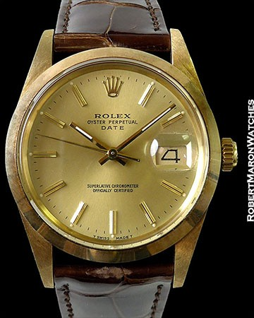 ROLEX 15007 OYSTER PERPETUAL DATE 18K CHEVROLET PONTIAC