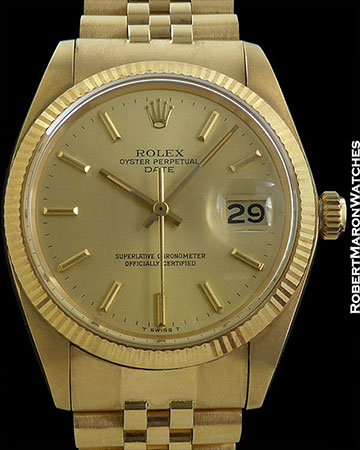 ROLEX REF 1503 DATE GOLD DIAL NEW OLD STOCK