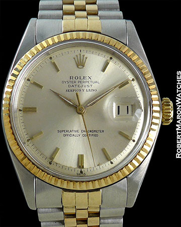 ROLEX REF 1601 TWO TONE DATEJUST SERPICO Y LAINO