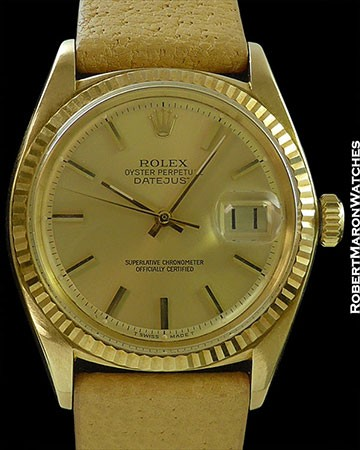 ROLEX 1601 18K DATEJUST RSC PAPERS