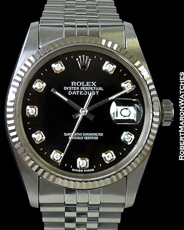 ROLEX 16014 DATEJUST PLASTIC QUICKSET STEEL/WHITE GOLD