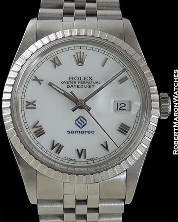 ROLEX REF 16030 DATEJUST WHITE ENAMEL DIAL CIRCA 1987