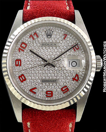ROLEX REF 16234 DATEJUST PAVE DIAL