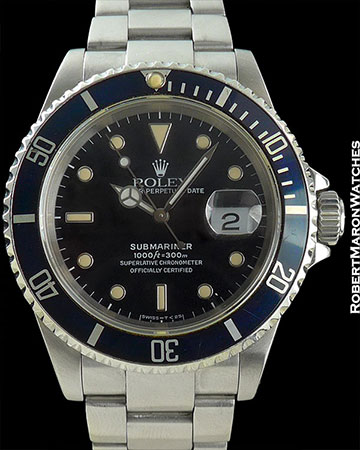 "ROLEX REF 16618 SUBMARINER ""COLTRANE"" BLUE BEZEL BOX AND PAPERS"