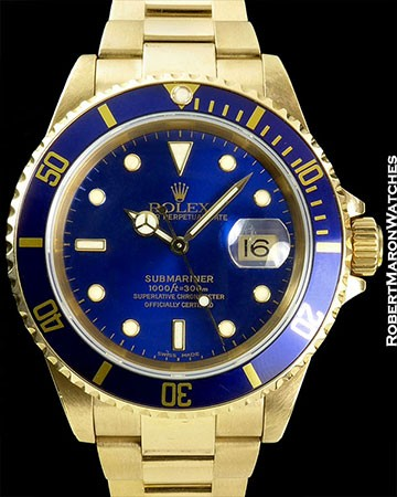 ROLEX 16618 SUUBMARINER 18K BOX PAPERS