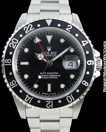 ROLEX 16700 GMT MASTER STAINLESS STEEL