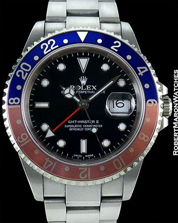 ROLEX GMT II 16710 UNPOLISHED STEEL BOX & PAPERS