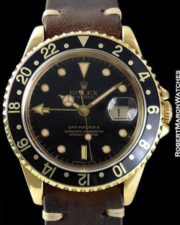 ROLEX REF 16718 GMT MASTER II 18K