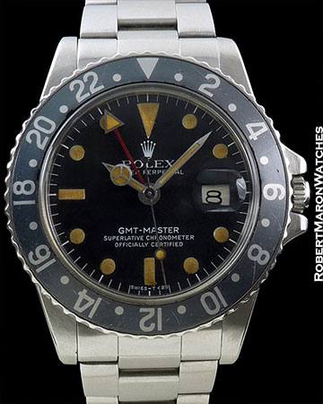 ROLEX 1675 GMT BLACKBERRY