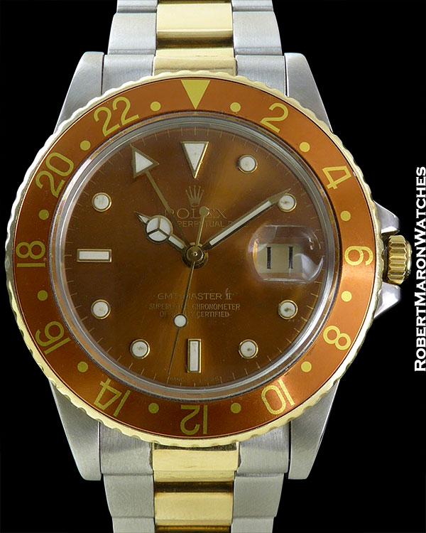 ROLEX REF 16753 GMT ROOTBEER CIRCA 1981