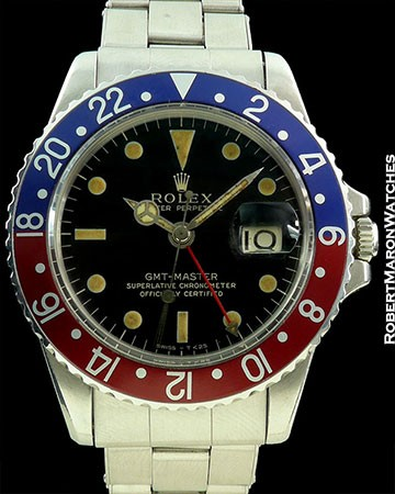 ROLEX GMT 1675 GILT GLOSS PEPSI STEEL