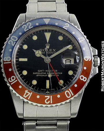 ROLEX REF 1675 GMT-MASTER PEPSI CIRCA 1966