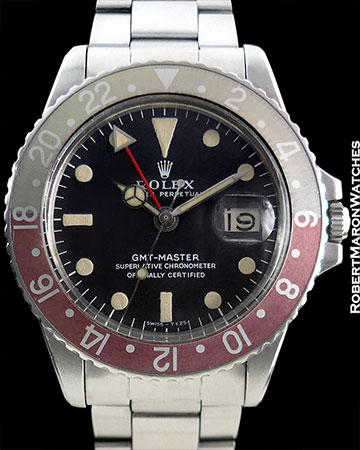 ROLEX 1675 GMT PEPSI WITH LONG E AND LONG L INCREDIBLE PATINA