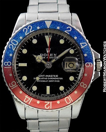 ROLEX 1675 GMT PEPSI UNPOLISHED