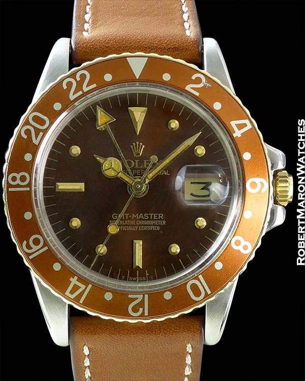 ROLEX REF 1675 GMT-MASTER ROOTBEER MINT CIRCA 1973