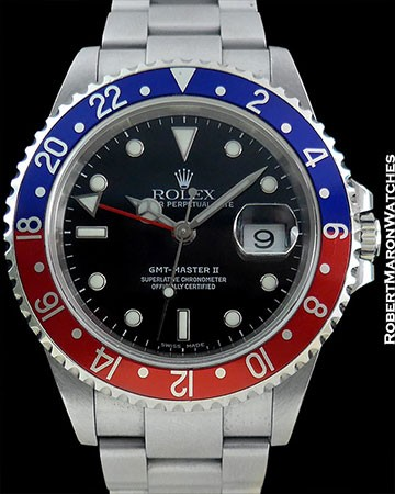 ROLEX 16750 GMT BLACK DIAL STAINLESS STEEL