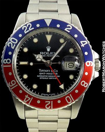 ROLEX 1675 GMT PEPSI TIFFANY